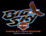 Big Sky Harley-Davidson Logo with Eagle