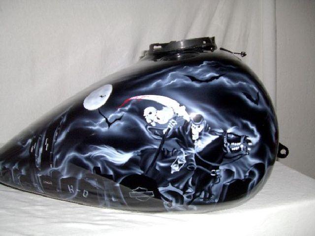Black Amp White Grim Reaper On Black Paint Set Details