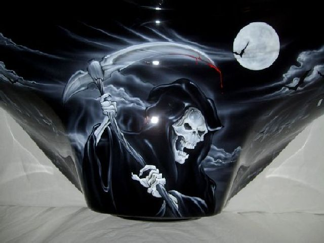 Black Amp White Grim Reaper On Black Paint Set Details