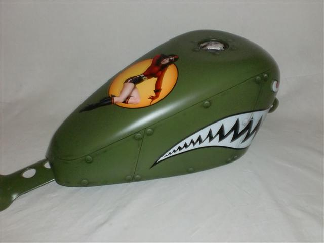 Bobber Green Fighter With Pin Up Paint Set Details